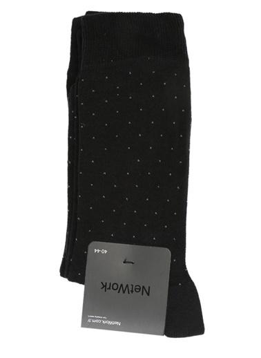 NetWork 2'li Çorap Siyah